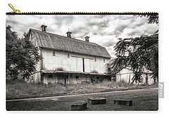 Barn In Black And White Carry-all Pouch by Tom Mc Nemar
