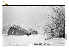 Barn In North Dakoya Winter Carry-all Pouch