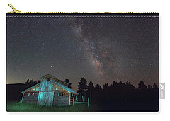 Carry-all Pouch featuring the photograph Barn In Rocky by Gary Lengyel