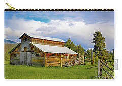 Barn In Rocky Mountains Carry-all Pouch