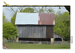 Carry-all Pouch featuring the photograph Barn Of Fair Hill by Donald C Morgan