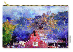 Barn On Ca Highway 154 Carry-all Pouch by Joseph Hollingsworth