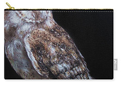 Carry-all Pouch featuring the painting Barn Owl by Cherise Foster