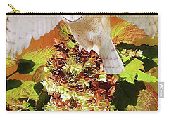 Barn Owl In Crape Myrtle Carry-all Pouch by Suzanne Handel