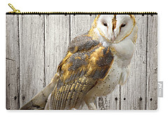 Barn Owl Carry-all Pouch by Kathy M Krause