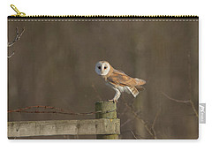 Barn Owl On Fence Carry-all Pouch