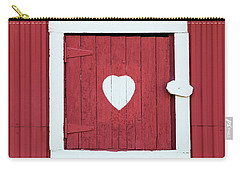 Barn Window With Heart Carry-all Pouch
