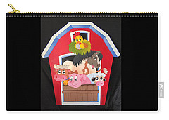 Barn With Animals Carry-all Pouch by Brenda Bonfield