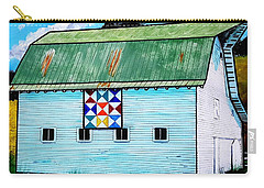 Barn With Quilt Carry-all Pouch by Jim Harris