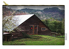 Barn With Red Bows Carry-all Pouch