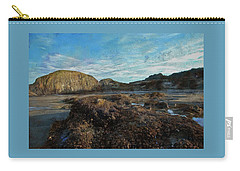 Carry-all Pouch featuring the photograph Barnacles On The Beach by Thom Zehrfeld