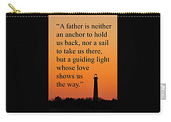 Barnegat Lighthouse With Father Quote Carry-all Pouch