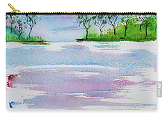 Gum Trees Frame The Sunset At Barnes Bay Carry-all Pouch