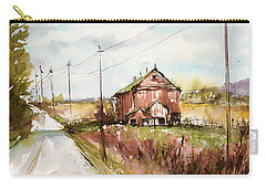 Barns And Electric Poles, Sunday Drive Carry-all Pouch by Judith Levins