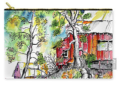 Barns And Trees 2 Carry-all Pouch by Terry Banderas