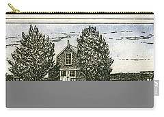 Carry-all Pouch featuring the mixed media Barnstable Yacht Club Etching by Charles Harden