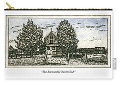 Carry-all Pouch featuring the mixed media Barnstable Yacht Club Greeting Card by Charles Harden