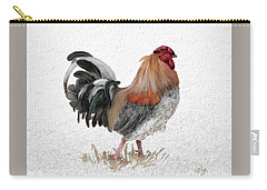 Carry-all Pouch featuring the digital art Barnyard Boss by Lois Bryan
