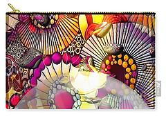 Carry-all Pouch featuring the digital art Barock Pop By Nico Bielow by Nico Bielow