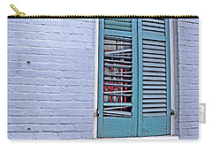 Carry-all Pouch featuring the photograph Barred And Shuttered by Lynda Lehmann
