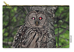 Carry-all Pouch featuring the photograph Barred Owl 3 by Glenn Gordon