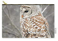 Barred Owl Close-up Carry-all Pouch