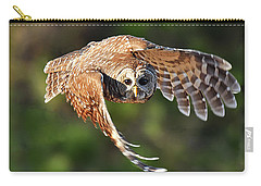 Barred Owl Flying Toward You Carry-all Pouch