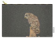 Barred Owl In Snowfall Carry-all Pouch