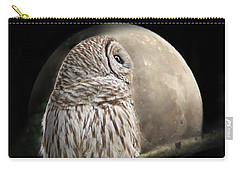 Barred Owl Moon Glow Carry-all Pouch