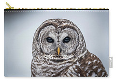 Carry-all Pouch featuring the photograph Barred Owl by Paul Freidlund