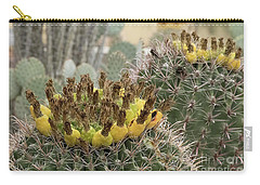 Barrel Cactus Closeup Carry-all Pouch by Anne Rodkin