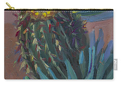 Barrel Cactus In Bloom - Boyce Thompson Arboretum Carry-all Pouch