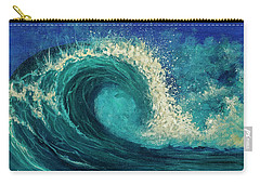 Carry-all Pouch featuring the painting Barrel Wave by Darice Machel McGuire
