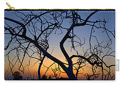 Carry-all Pouch featuring the photograph Barren Tree At Sunset by Lori Seaman