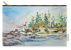 Carry-all Pouch featuring the painting Barrier Bay by Joanne Smoley