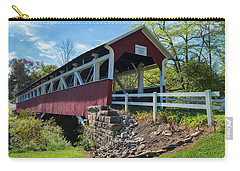 Carry-all Pouch featuring the photograph Barronvale Bridge  by Cindy Lark Hartman