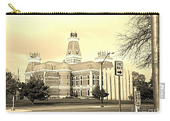 Bartholomew County Courthouse Columbus Indiana - Sepia Carry-all Pouch