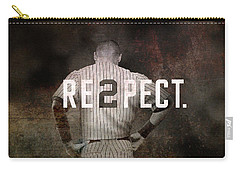 Baseball - Derek Jeter Carry-all Pouch by Joann Vitali