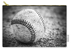 Baseball In Black And White Carry-all Pouch