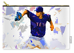 Carry-all Pouch featuring the painting Baseball Pitch by Movie Poster Prints