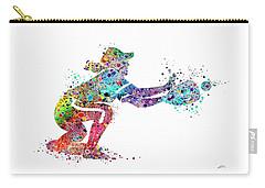Baseball Softball Catcher 2 Sports Art Print Carry-all Pouch