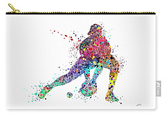 Baseball Softball Catcher Sports Art Print Carry-all Pouch