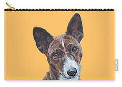 Basenji Dog Painting Carry-all Pouch