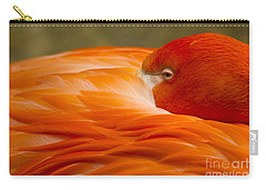 Bashful Flamingo Carry-all Pouch