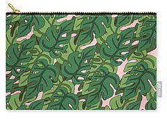 Basic Green Lead Pattern Carry-all Pouch