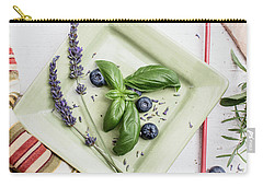Carry-all Pouch featuring the photograph Basil Still Life 2 by Rebecca Cozart
