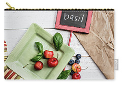 Carry-all Pouch featuring the photograph Basil Still Life 4 by Rebecca Cozart