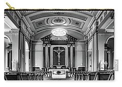 Carry-all Pouch featuring the photograph Basilica Of Saint Louis King - Black And White by Nikolyn McDonald