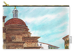 Carry-all Pouch featuring the painting Basilica San Lorenzo Florence Italy by Irina Sztukowski