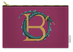 Basilisk Letter B Carry-all Pouch by Donna Huntriss